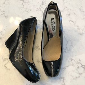 Funky MICHAEL KORS Black Zipper Wedges 7.5
